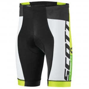 SCOTT BIKE SHORTS RC TEAM 2015 BLACK/TENDER GREEN