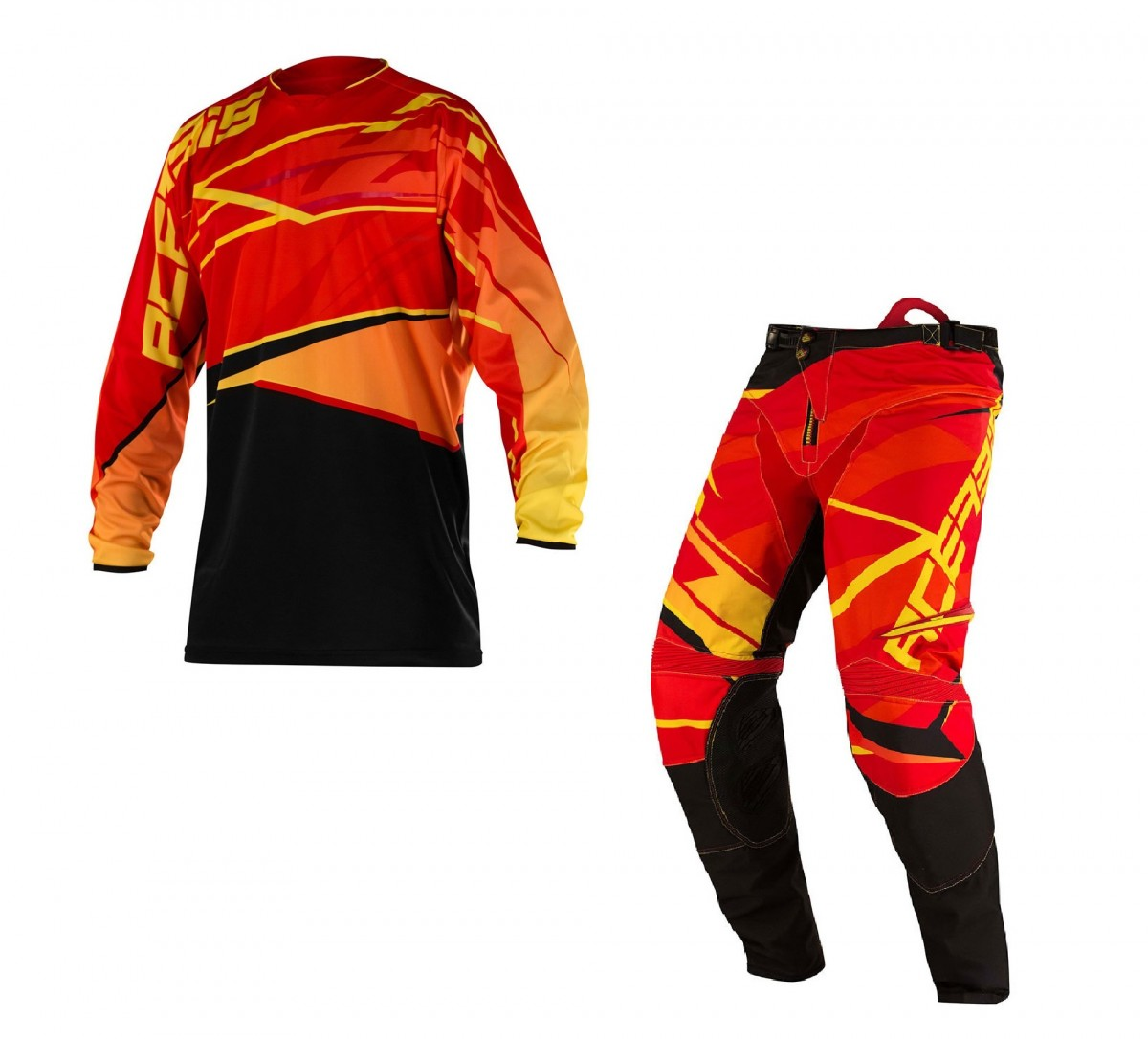 RED//YELLOW ACERBIS COMPLETO CROSS X-GEAR 2016 MAGLIA+PANT