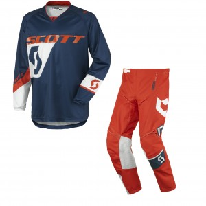 SCOTT COMPLETO CROSS 350 DIRT 2016 MAGLIA+PANT. BLUEORANGE