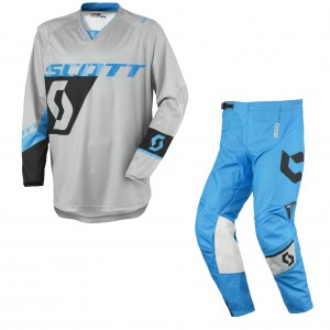 SCOTT COMPLETO CROSS 350 DIRT 2016 MAGLIA+PANT. GREYBLUE