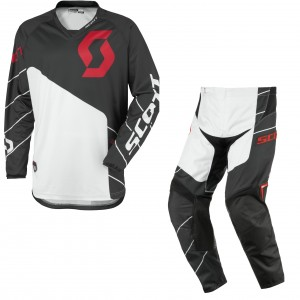 SCOTT COMPLETO CROSS 350 RACE 2016 MAGLIA+PANT. BLACKWHITE