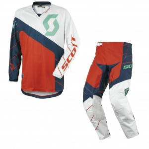 SCOTT COMPLETO CROSS 350 RACE 2016 MAGLIA+PANT. BLUEORANGE