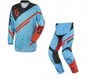 SCOTT COMPLETO CROSS 350 TRACK 2016 MAGLIA+PANT. BLUE/ORANGE