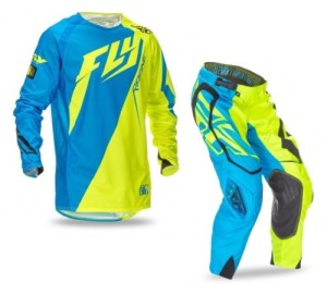 FLY COMPLETO OFFROAD EVOLUTION 2.0 2016 MAGLIA+PANT. LIGHT BLUE/YELLOW FLUO