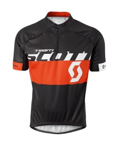 SCOTT MAGLIA BICI MANICA CORTA RC TEAM S/SL 2015 BLACK/TANGERINE ORANGE