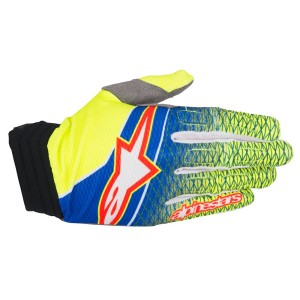 ALPINESTARS GUANTO CROSS 2017 AVIATOR BLUE/YELLOW FLUO/RED