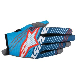 ALPINESTARS GUANTO CROSS 2017 RADAR TRACKER CYAN/WHITE/DARK BLUE