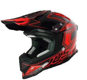 JUST1 CASCO OFFROAD J12 CARBON FLUO RED