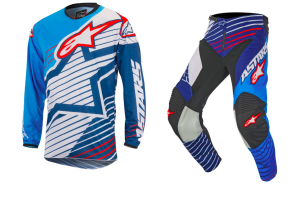 ALPINESTARS COMPLETO CROSS 2017 RACER BRAAP MAGLIA+PANT CYAN/WHITE/DARK BLUE