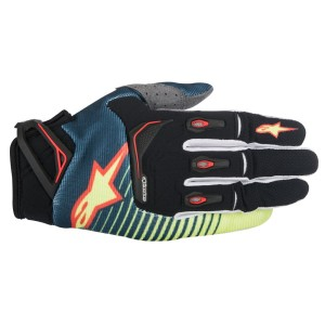 ALPINESTARS GUANTI OFF ROAD TECHSTAR PETROL/YELLOW FLUO/RED