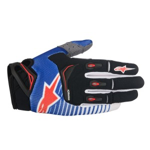 ALPINESTARS GUANTI OFF ROAD TECHSTAR BLUE/WHITE/RED