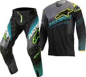 ALPINESTARS COMPLETO OFF ROAD TECHSTAR FACTORY 2017 BLACK/TEAL/YELLOW FLUO