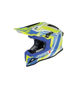 JUST1 CASCO OFF ROAD J12 FLAME YELLOW-BLUE 2017