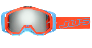 JUST1 OCCHIALI OFF ROAD IRIS NEONRED-BLUE MIRROR LENS
