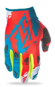 FLY OFF ROAD KINETIC GLOVES 2017 TEAL/RED/FLUO YELLOW
