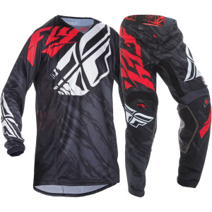 FLY COMPLETO OFF ROAD 2017 KINETIC RELAPSE NERO/ROSSO