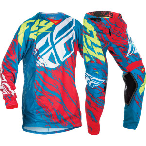 FLY COMPLETO OFFROAD 2017 KINETIC RELAPSE TEAL/ROSSO/GIALLO FLUO