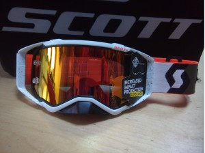 SCOTT OCCHIALI OFFROAD PROSPECT BRENDAN FAIRGLOUGH SIGNATURE NERO/BIANCO ORANGE WORKS