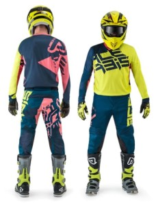 ACERBIS OFF ROAD JERSEY+PANTS AIRBORNE 2018 FLUO YELLOW/BLUE