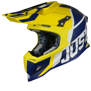 JUST1 CASCO OFF ROAD 2018 J12 UNIT BLU/GIALLO MATT