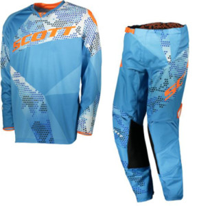 SCOTT COMPLETO OFF ROAD 350 RACE JUNIOR MAGLIA +PANT. BLUE/ORANGE 2018