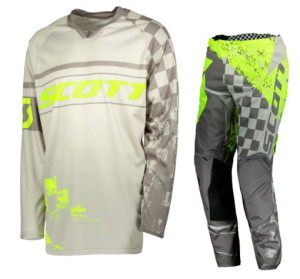 SCOTT GREY/YELLOW OFF ROAD 350 TRACK JERSEY+PANTS 2018