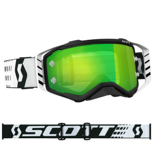 SCOTT OCCHIALI OFF ROAD PROSPECT BLACK/WHITE GREEN CHROME WORKS