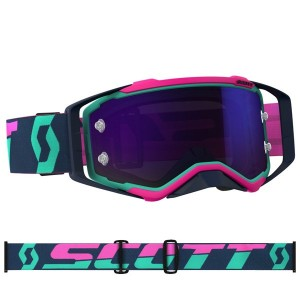 SCOTT OCCHIALI OFF ROAD PROSPECT TEAL/PINK PURPLE CHROME WORKS
