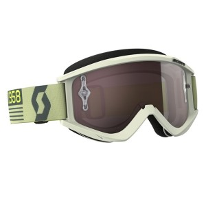 SCOTT OCCHIALI OFF ROAD RECOIL XI BEIGE/BROWN SILVER CHROME WORKS