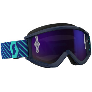 SCOTT RECOIL XI GOGGLE BLUE/TEAL PURPLE CHROME WORKS
