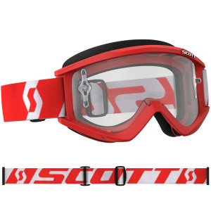 SCOTT OCCHIALI OFF ROAD RECOIL XI RED/WHITE CLEAR WORKS