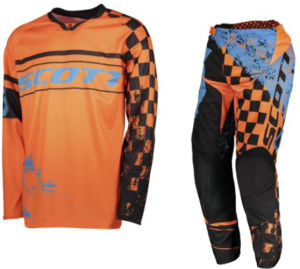 SCOTT ORANGE/BLACK KIDS OFF ROAD 350 TRACK JERSEY+PANTS 2018