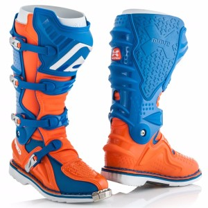 ACERBIS X-MOVE 2.0 OFF ROAD BOOTS BLUE/FLUO ORANGE