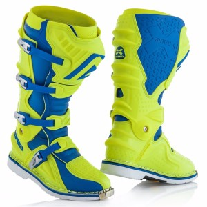 ACERBIS X-MOVE 2.0 OFF ROAD BOOTS FLUO YELLOW/BLUE