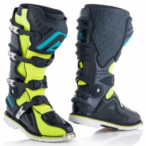 ACERBIS X-MOVE OFF ROAD BOOTS FLUO YELLOW/GREY