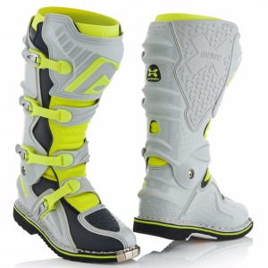 ACERBIS X-MOVE 2.0 OFF ROAD BOOTS GREY/FLUO YELLOW