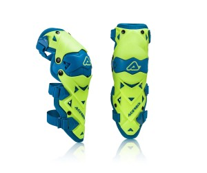 ACERBIS IMPACT EVO 3.0 KNEE GUARD FLUO YELLOW/BLUE ONE SIZE