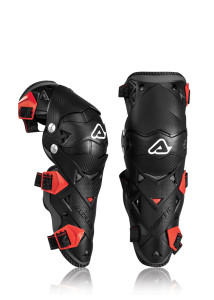 ACERBIS IMPACT EVO 3.0 KNEE GUARDS BLACK/RED ONE SIZE
