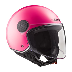LS2 CASCO JET OF558 SPHERE LUX GLOSS PINK (INCLUSA VISIERA SCURA)