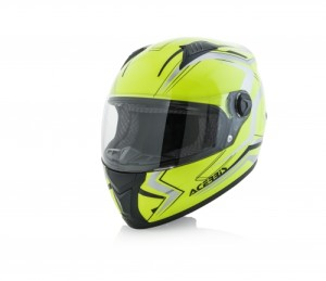 ACERBIS FLUO YELLOW/SILVER FS-807FULL FACE HELMET
