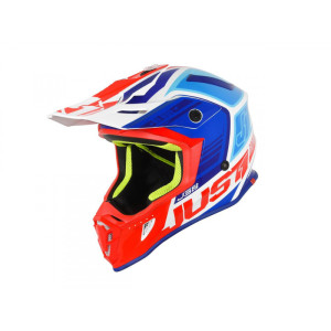 JUST1BLUE/RED/WHITE OFF ROAD J38 BLADE HELMET