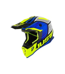 JUST1 BLUE/FLUO YELLOW/GLOSS BLACK OFF ROAD J38 BLADE HELMET