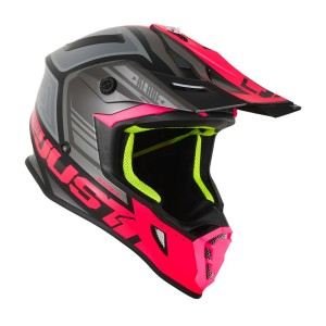JUST1FLUO FUXIA/MATT BLACK OFF ROAD J38 BLADE HELMET