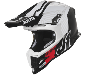 JUST1 CARBON-WHITE J12 SYNCRO HELMET