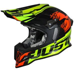 JUST1 CASCO OFFROAD  J12 DOMINATOR NEON LIME -RED