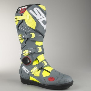 SIDI OFFROAD BOOTS  CROSSFIRE 2 SRS YELLOW FLUO-GREY