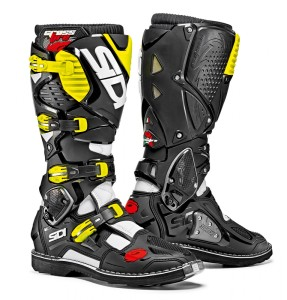 SIDI WHITE/BLACK/FLUO YELLOW OFFROAD CROSSFIRE 3 BOOTS