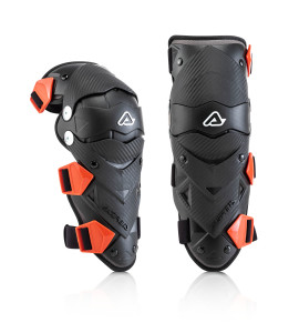 ACERBIS BLACK-RED IMPACT EVO JUNIOR KNEE GUARDS ONE SIZE