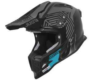 JUST1 CASCO OFFROAD J12 SYNCRO CARBON-BLACK-TURQUOISE