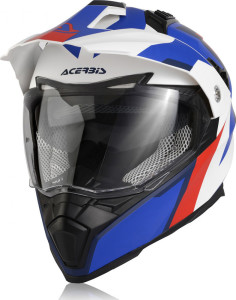 ACERBIS FLIP FS-606 OFF ROAD HELMET WHITE-BLUE-RED